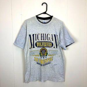 Vintage Michigan Wolverines T-Shirt Sz L